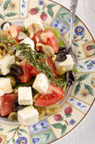 Mediterranean salad on a plate Stock Image