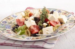 Mediterranean salad on a plate Stock Photography