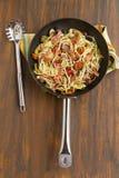 Mediterranean Salami Spaghetti Royalty Free Stock Photo