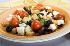 Mediterranean salat on a plate Stock Photo