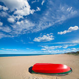 Mediterranean sand beach in Valencian community Spain Royalty Free Stock Photo