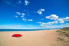 Mediterranean sand beach in Valencian community Spain Royalty Free Stock Photos