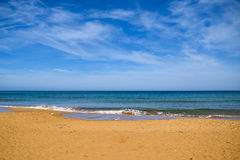 Mediterranean sandy beach Royalty Free Stock Photos