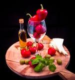 Mediterranean sauce for pasta, bruschetta, salad or sandwich Stock Images