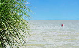Mediterranean scene at Lake Balaton Royalty Free Stock Photography