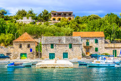Mediterranean scenery in islands of Croatia. Royalty Free Stock Photography