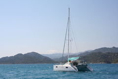 The Mediterranean sea. Yacht trevel to Kekova Stock Photo