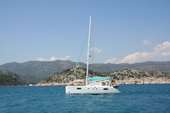 The Mediterranean sea. Yacht trevel to Kekova Stock Photography