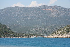 The Mediterranean sea. Yacht trevel to Kekova Stock Images