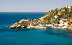 Mediterranean Sea. Azure Mediterranean Sea with rocks stock photography