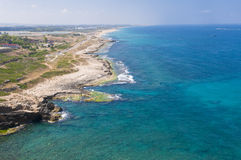Mediterranean sea. View of the Mediterranean sea in Rosh Hanikra , northern Israel royalty free stock image
