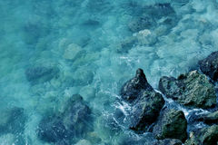 Mediterranean Sea. Rocks and Sea of the Mediterranean royalty free stock images