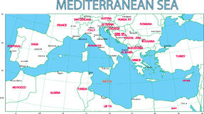 Mediterranean sea. Royalty Free Stock Photos