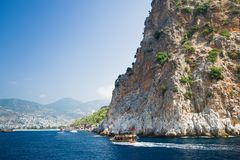 Mediterranean Sea. Alanya. Turkey. Beautiful summer day Royalty Free Stock Photography