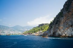 Mediterranean Sea. Alanya. Turkey. Beautiful summer day Stock Photography