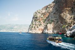 Mediterranean Sea. Alanya. Turkey. Beautiful summer day Stock Images