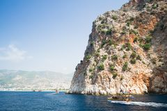 Mediterranean Sea. Alanya. Turkey. Beautiful summer day Stock Photo