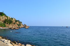 Mediterranean sea and Antalia shore Stock Image