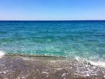 Beautiful serf of mediterranean sea royalty free stock photos