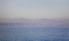 Mediterranean sea in Antibes. France Stock Images
