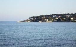 Mediterranean sea in Antibes. France Stock Photos