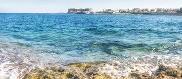 Mediterranean Sea around Marsaskala, South Malta Royalty Free Stock Photos