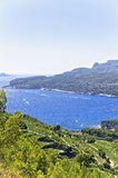 Mediterranean sea bay in Provence view from mountains Royalty Free Stock Image