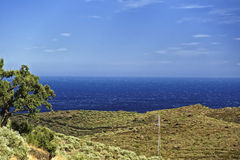 Mediterranean sea bay in Provence view from mountains Stock Image