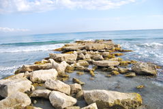 Mediterranean Sea. Mediterranean Beach/sea, at Cyprus Stock Photo