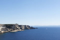 Mediterranean sea at  Bonifacio, Corsica. Stock Photos