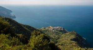Cinque Terra village in northwestern Italy stock photos