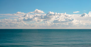 Mediterranean sea and clouds Royalty Free Stock Photo