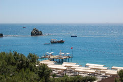 Mediterranean sea coast Royalty Free Stock Images