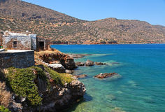 Mediterranean sea coast (Crete, Greece). Stock Image