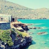 Mediterranean sea coast (Crete, Greece). Stock Photos