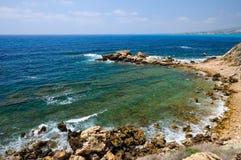 Mediterranean Sea coast in Cyprus Royalty Free Stock Photography