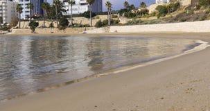 Mediterranean sea coast hotel from calpe spain 4k stock footage