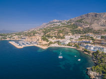 Mediterranean sea coast. Spain, Costa Blanca royalty free stock image