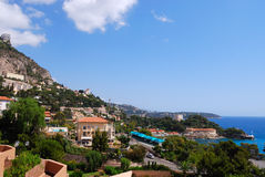 Mediterranean sea coast, Monaco, France and Italy Stock Image