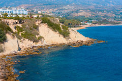 Mediterranean sea coast near Paphos,. Cyprus stock images