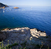 Mediterranean sea coast Stock Images