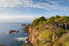 Mediterranean Sea Coast in Tossa de Mar Royalty Free Stock Images