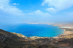 Mediterranean Sea coastline Cartagena, Spain. Stock Image