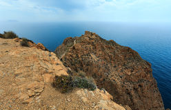 Mediterranean Sea coastline Cartagena, Spain. Royalty Free Stock Photography