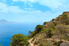 Mediterranean Sea coastline Cartagena, Spain. Royalty Free Stock Image