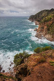 Mediterranean Sea Coastline on Costa Brava in Spain Royalty Free Stock Photos