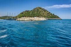 Mediterranean sea coastline Stock Photo
