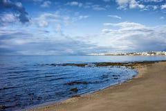 Mediterranean Sea Coastline in Marbella Stock Image