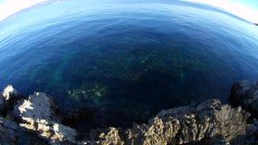 Mediterranean sea. Mediterranean cold sea- desert beach in winter time Stock Image