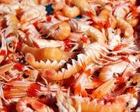 Mediterranean sea crayfish in Javea fish market Royalty Free Stock Images
